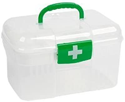 Double Layer Medicine Storage Box First Aid Kit Holder Case