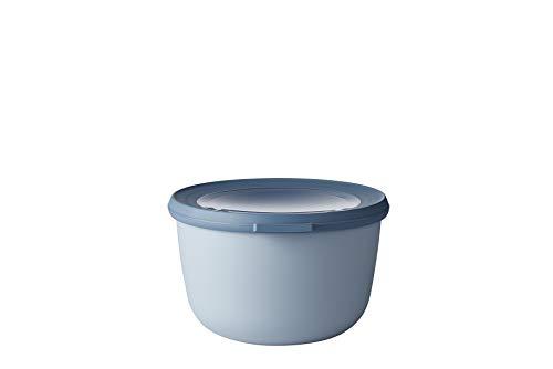 Mepal Multischüssel Cirqula rund Blue – 1000 ml Inhalt – mit abnehmbarem Deckel – bruchfestes Material-auslaufsicher – tiefkühlgeeignet-spülmaschinengeeignet, PP/TPE, Nordic Blau