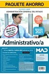 Paquete Ahorro Administrativo del Estado (acceso libre). Ahorra 96 € (incluye Temarios 1, 2, 3, 4 y 5; Test y Supuestos Prácticos; Simulacros de examen; y acceso Curso Oro)