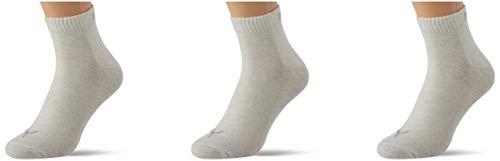 PUMA Quarter Plain Socks (3 Pack) Calcetines, Oatmeal, 47/49 Unisex Adulto