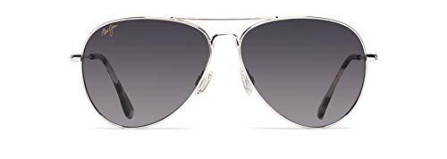 Maui Jim Mavericks Aviator Sunglasses Silver/Neutral Grey Polarized Medium