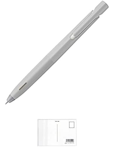 ゼブラ ブレン エマルジョンボールペン 0.5mm 黒インク グレー軸 BAS88-GR 【まとめ買い 50 本 】 + 画材屋ドットコム ポストカードA