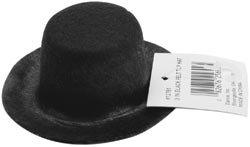 Darice Stiffened Felt Top Hat 3 inch Black 12761 (6-Pack)