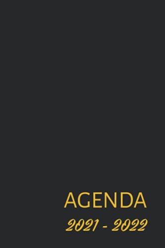 Agenda: Noir Or Gold | Semainier A6 en Français | Petit Format de Poche | Hebdomadaire
