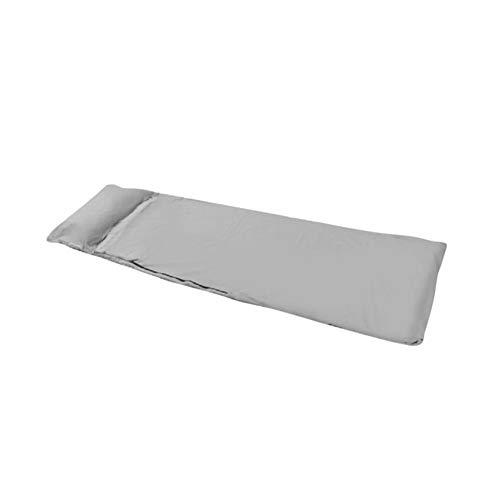 dinglihuaqu Bequemer Schlafsack für alle Jahreszeiten Liner Polyester-Rohseide tragbares Einzel Schlafsäcke Camping Reise Schlaf Tasche Ultraleichte Outdoor-Schlafsack (Color : Gray)