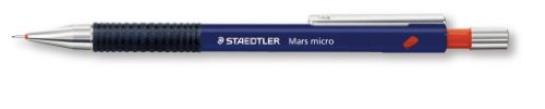 Staedtler Micro 775 - Portaminas (10 unidades, 0,9 mm, recargables, caña de plástico con manguito ergonómico de goma),...