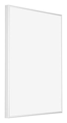 yd. - 28x35 cm - Bilderrahmen von Aluminium mit Sicherheitsglas - Ausgezeichneter Qualität - Weiss Hochglanz - UV-beständige Glasplatte - Antireflex - Fotorahmen - Kent.