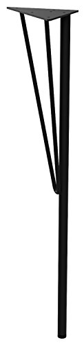 Weekend Workshop スチールテーブル脚 DIY TABLE LEG 黒 ブラック 高さ69cm 1本売り WTK-1