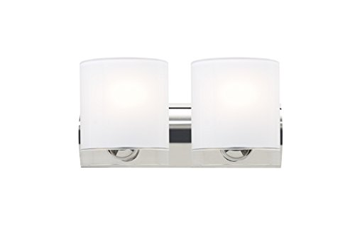 Besa 2WZ-CELTICCL-CR Contemporary Modern Two Light Wall Sconce from Celtic Collection in Chrome Finish,