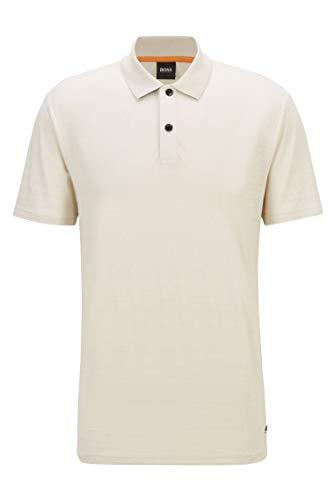BOSS Herren Pikedo Poloshirt aus strukturierter Baumwolle mit Zickzack-Nähten