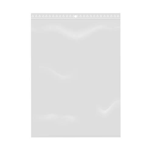 Extiff Lotto di 100 Sacchetti Trasparenti con Chiusura a Zip - Plastica Alimentare (18 x 25 cm)