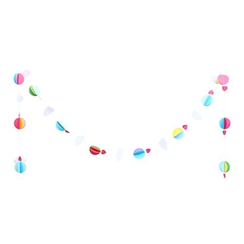 NUOBESTY Globos de aire caliente de papel 3D guirnalda de globos de corazón decoración de globos de aire caliente Foto Prop Decoración de fiesta para cumpleaños hogar guardería decoración