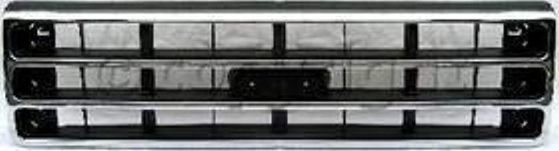 Dark Silver Finish FO1200141 Fits 1989-1991 Ford Bronco New Grille Chrome