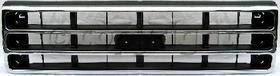 Grille Assembly Compatible with FORD F-SERIES 1989-1991 Chrome Shell/Painted-Dark Argent Insert