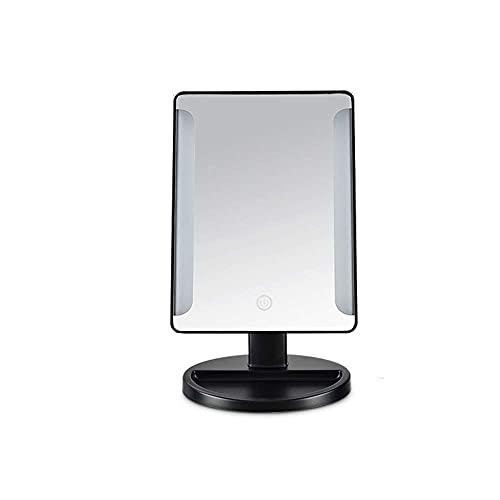 LJWJ Espejo, Baño, Montaje en la Pared, Tocador, Espejo de Maquillaje con Luz Led de Escritorio Lámpara de Mesa Plegable Lámpara de Mesa de Escritorio Princesa Lámpara de Aderezo