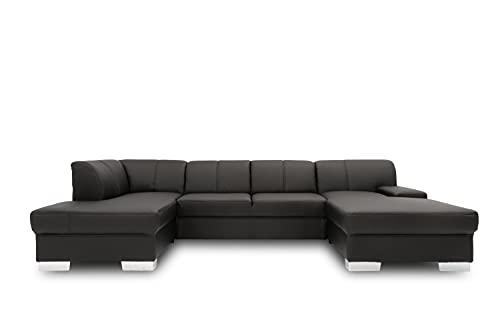 DOMO collection Star Wohnlandschaft, U-Form, Polstergarnitur, Sofa, Couch 150 x 304 x 150 cm in beiger Microfaser