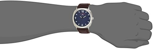 Men's Analog-Quartz Watch with Leather-Synthetic Strap, Brown, 22 (Model: US5238)