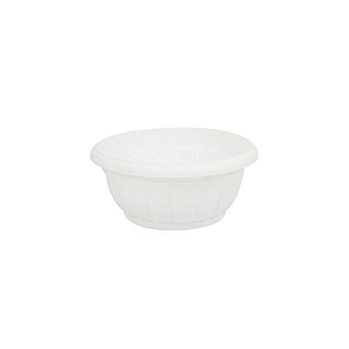 Rond pot de fleur Verona blanc en plastique 17 cm de diametre