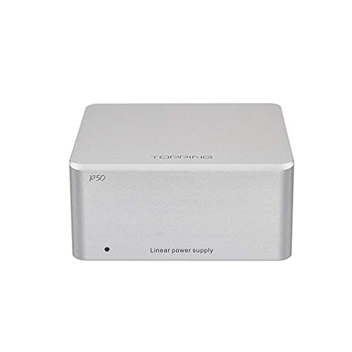 TOPPING P50 Liner Alimentatore HiFi Alimentatore DC LPS A Bassissimo Rumore Per TOPPING E30 / D50s / DX3 Pro / D30 DAC Uscita Amplificatore USB 110V/220V (Argento)