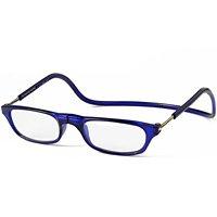 老眼鏡[シニアグラス] CliC Readers[クリックリーダー] ブルー 度数1.50〜3.50+2.50