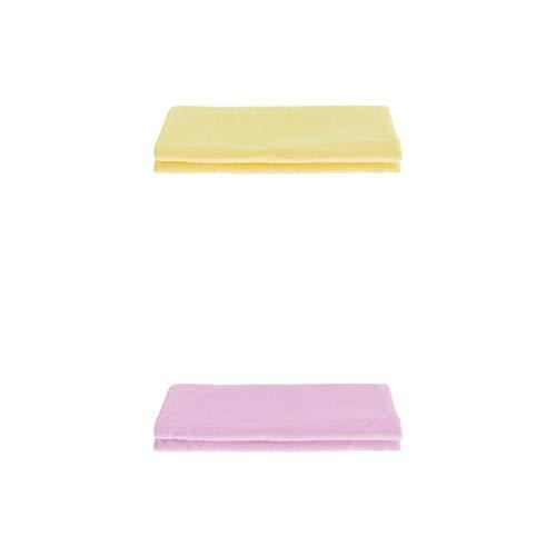 Fenteer Toalla 2Pcs para Baño Home SPA Hotel Bathtowel Bath Sheet Amigable para La Piel