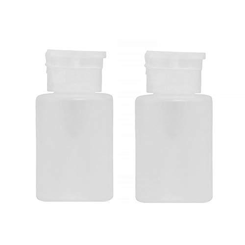 Nail Remover 120ml professionnel polonais pompe vide Dispensers bouteille en plastique transparent cosmétique bouteille vide 2pcs blanc Conteneur