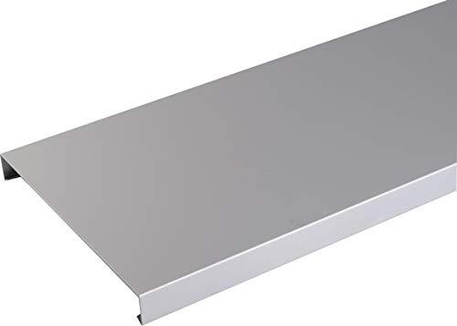 Couvertine aluminium 1 mm Gris métal RAL 9006-2 mètres - 200 mm