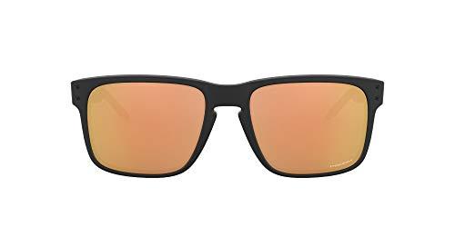 Oakley Holbrook - Gafas de sol para hombre, ajuste asiático, color negro mate/oro rosa