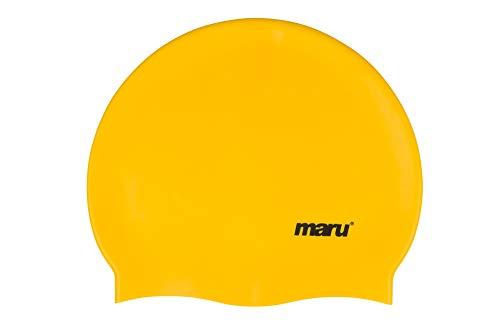 Maru A0840 Gorro de Natacion, Adultos Unisex, Yellow, Un tamaño