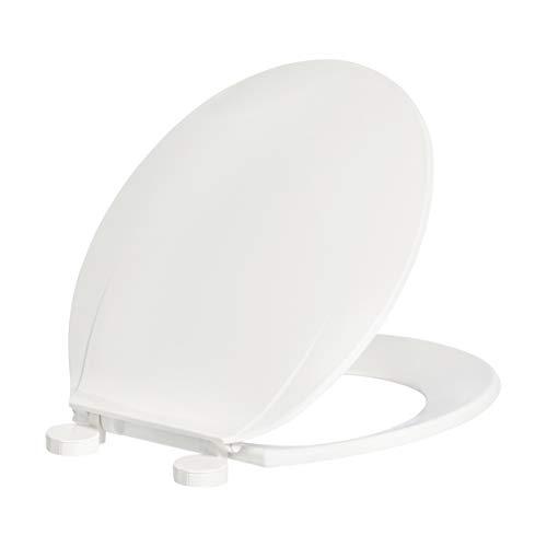 AmazonBasics – AB-T100-R-W WC-Sitz, Economy-Modell, rund, Weiß, 1Stück