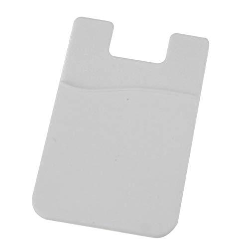Triamisu Klistermärke kortpåse – självhäftande klistermärke baksida fodral korthållare fodral för mobiltelefon mjuk bekväm telefon kreditkortshållare – vit