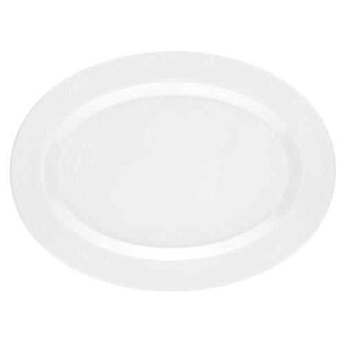Seltmann Weiden No Limits Plat ovale en porcelaine dur Blanc, Blanc., 31.1 x 23.3 x 2.1 cm