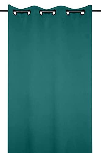 Lovely Casa – Cortina 135 x 250 cm, Color Esmeralda