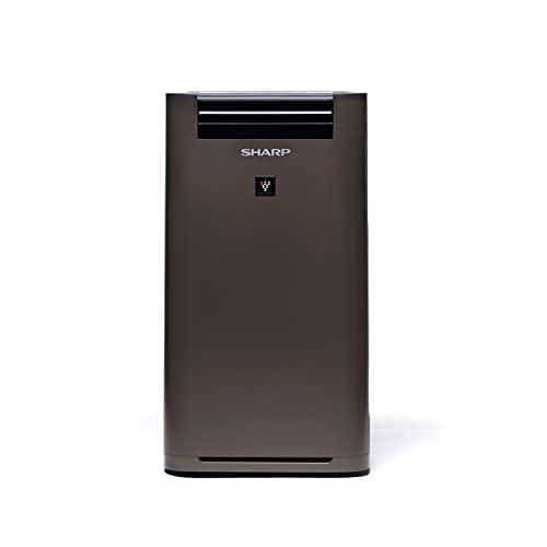SHARP UA-HG40E-T Luftreiniger mit Luftbefeuchter für Räume bis zu 28 qm, 3-Stufen Filtersystem (Vorfilter, Geruchsfilter, HEPA-Filter), taupe
