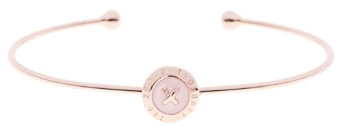 Ted Baker Elvas Rose Gold and Baby Pink Enamel Mini Button Ultrafine Cuff