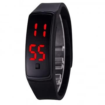 Reloj de pulsera digital LED deportivo correa de silicona reloj de pulsera para hombres mujeres niños regalo reloj inteligente negro normal color aleatorio