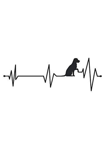 Labbi Herzfrequenz Hundeliebhaber Geschenk: Notizbuch   Notebook   Punktiert, DIN A4 (21x29.7 cm), 120 Seiten, creme-farbenes Papier, glänzendes Cover