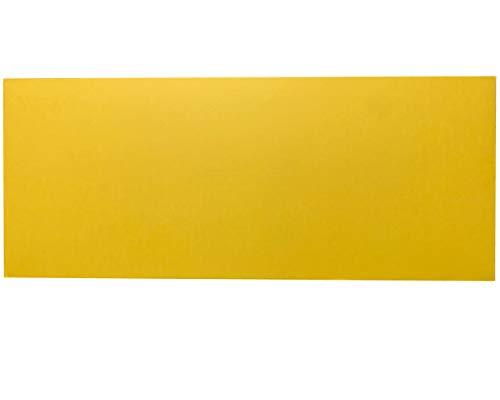 ダンボール 板 工作 アート用 カラー 両面黄色 イエロー 33cm×80cm 厚さ1.5mm 10枚セット