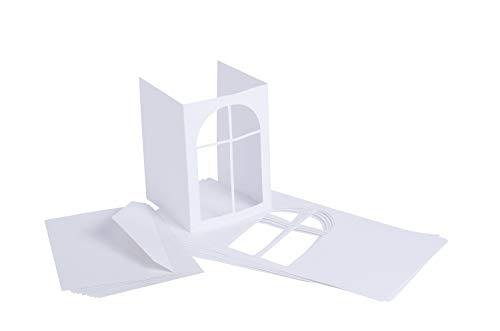 VBS PP-Karten. weiß, 10St Fensterbogen, DIN A6