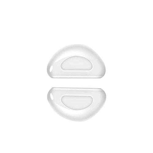 teng hong hui 60 Paare Gläser Nose Pad Adhesive Half Moon Nasenauflage Gläser D geformtes Silikon-Harz-Nasenpads für Sonnenbrillen Brille, transaprent