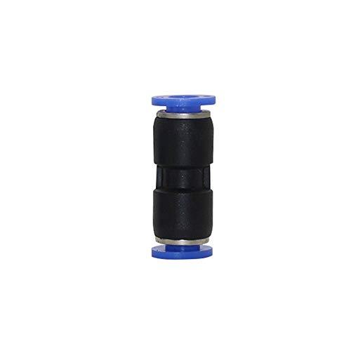 MINGMIN-DZ Dauerhaft 25 PC 6mm PU-Schlauch Kunststoff-Kolben-Schnell Gerade Steckverbinder pneumatische Rohrfittings Home Garten Bewässerungssystem Zubehör