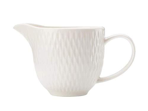 Maxwell Williams White Basics Diamonds - Jarra para leche (porcelana), color blanco, porcelana, 190 ml