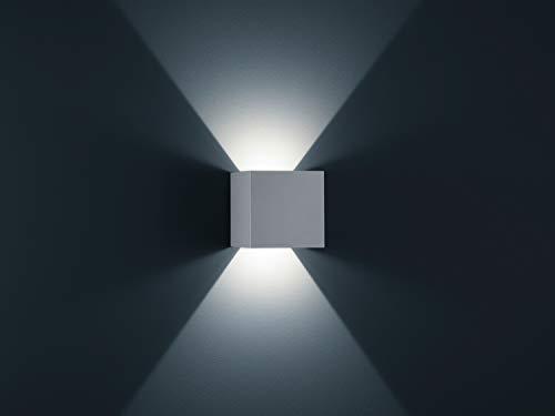 Helestra A28442.46 LED-Wandleuchte, silber, 15 x 15 x 15 cm