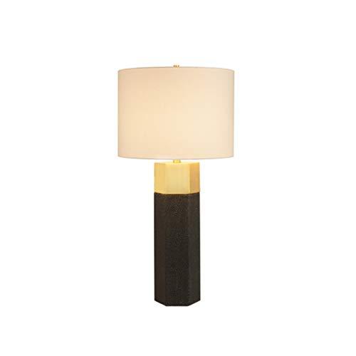 Luz Mesa de Noche Tradicionales Lámparas de mesa Lámparas de Base de la lámpara for Mesilla de noche de lino tela de la cortina granja Lámparas de mesa Dormitorio regalo LED Lámpara ( Color : Black )