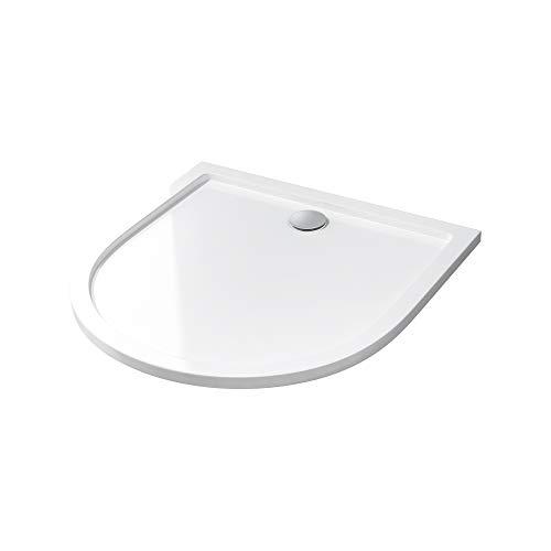 Duschtasse Lucia/Faro in weiß, Form: Halbkreis, BTH: 100x100x4cm
