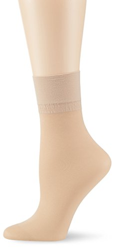 KUNERT Damen Glanz Fein Socken, 163000 Satin Erscheinungsbild 20, Gr. 39/42, Hautfarben (Teint 3520)