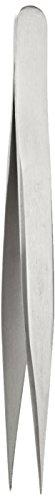 NeoLab E-7011 roestvrij stalen pincet, 120 mm lang, recht, punt, zeer fijn