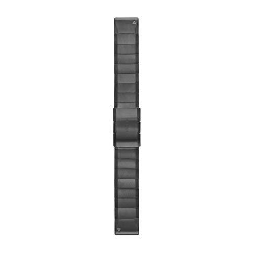 Garmin Edelstahl-Armband-22mm Quickfit-Wechselarmband, Schiefergrau, 22 mm