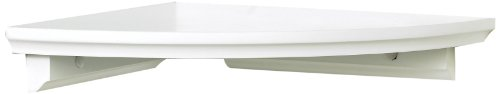 InPlace Shelving 0199020 W x 10 in D x 1.88 in H, White Corner Shelf Kit, 10 in W x 10 in D x