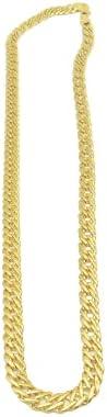DOEPC Men's 24K gold necklace fashion necklace